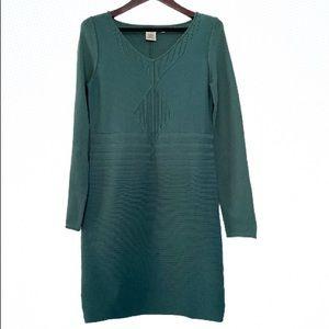 Max Studio Green Knit Sweater Dress sz Large